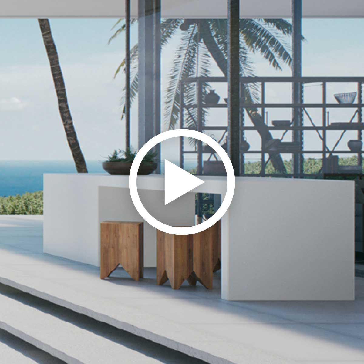 The New Outdoor Living Room With Caesarstone