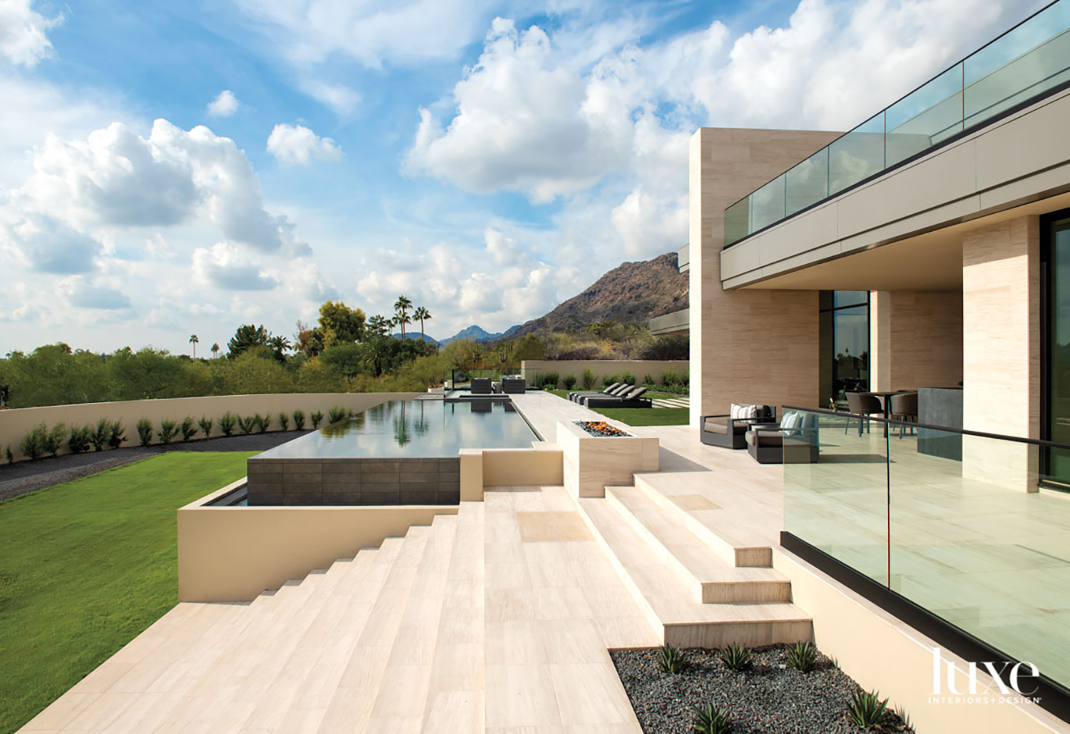 The exterior of a modern...