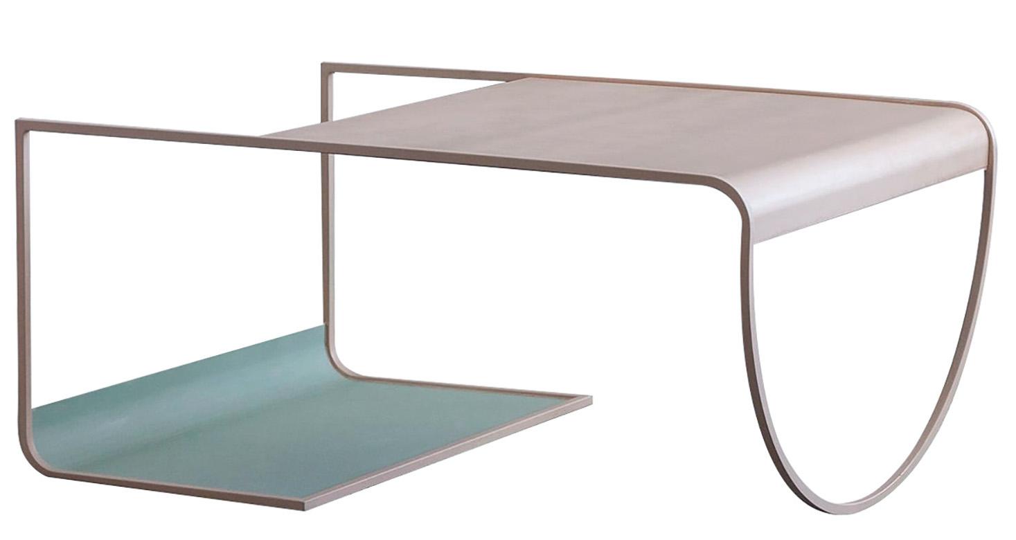 minimalist pastel coffee table