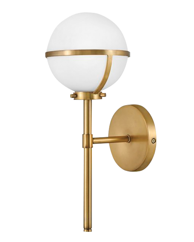 hollis brass single light by hinkley