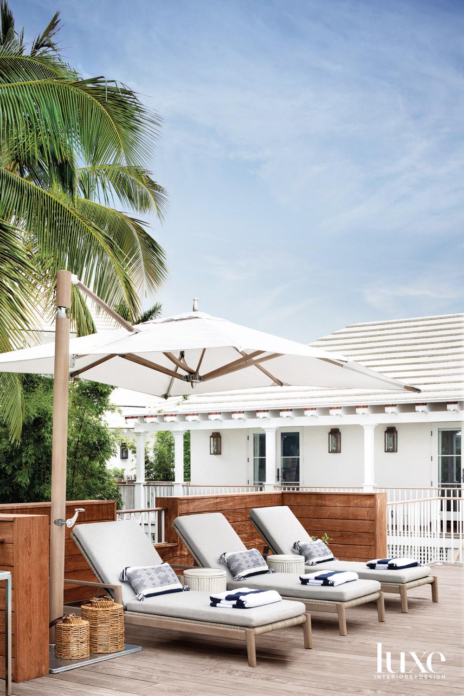 ipe pool deck of white...