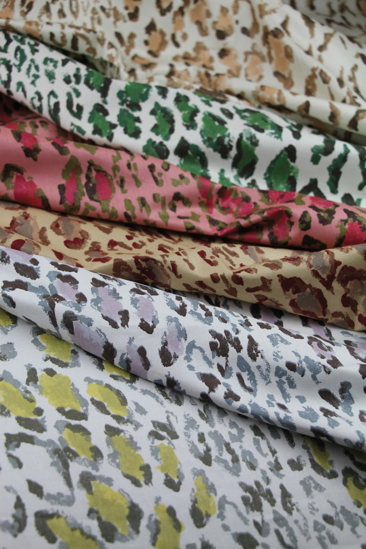 Colored animal print textiles