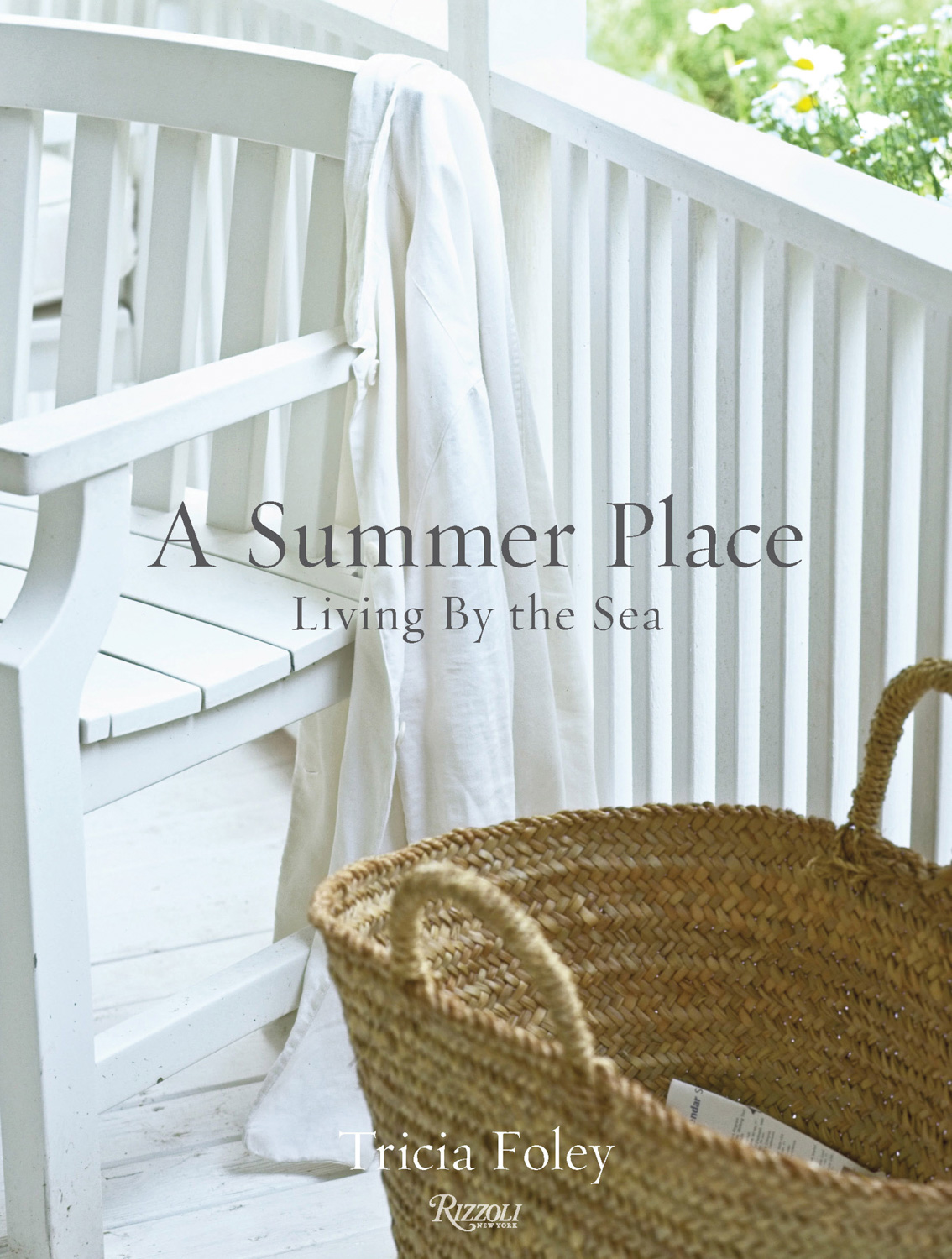 A Summer Place book cover - basket with white chair