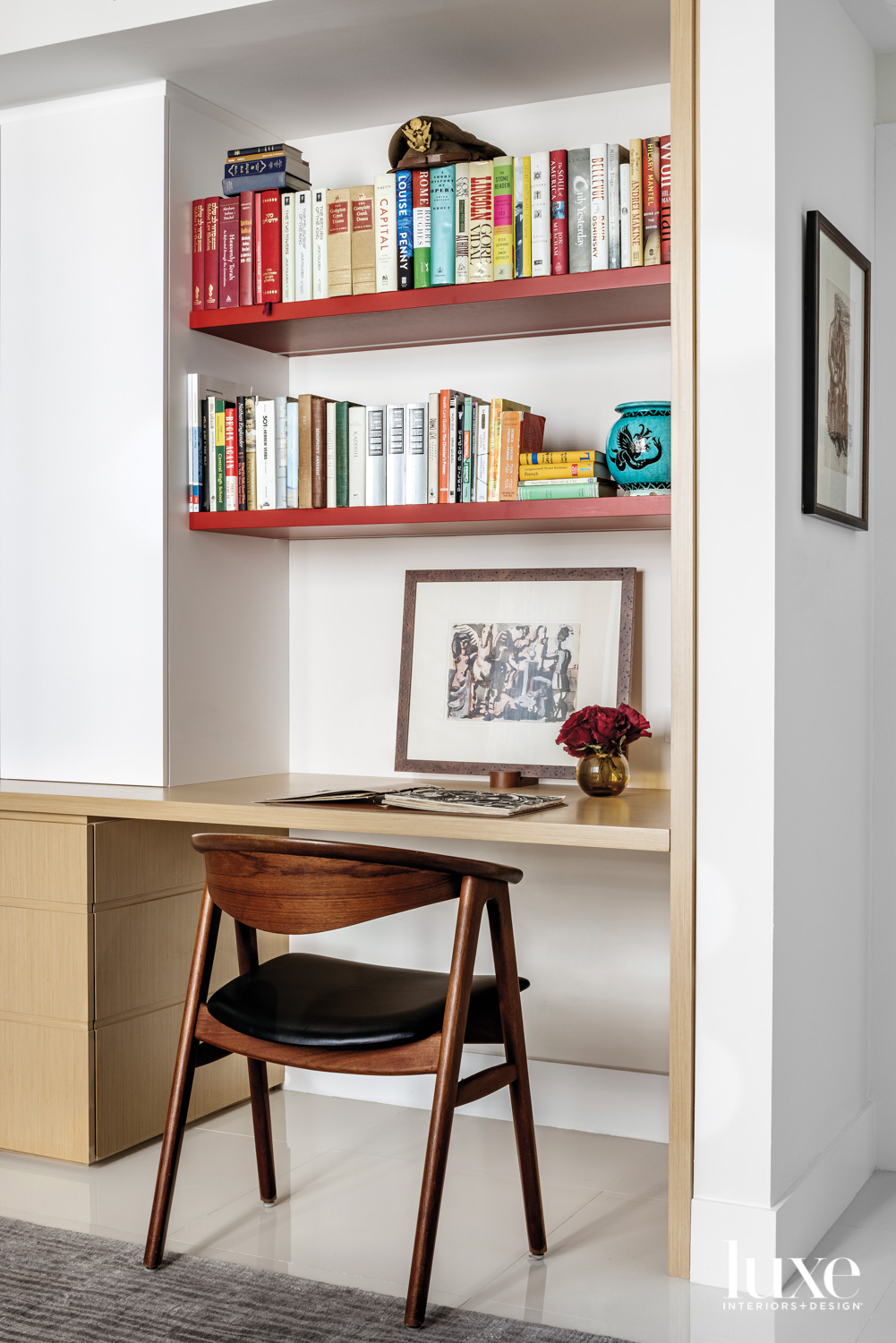 desk space with 1960s chair,...