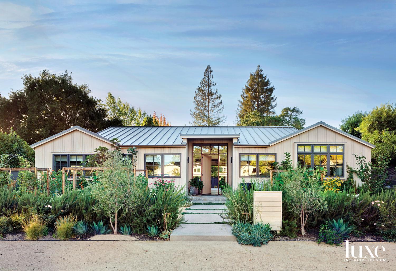 home exterior with garden