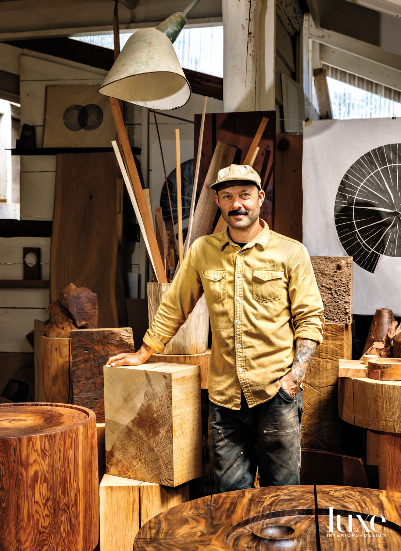 Ido Yoshimoto stands in his studio.