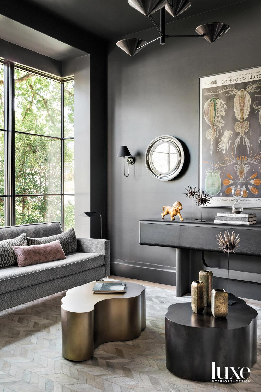 Sitting room with dark gray...
