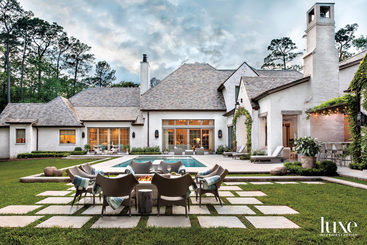 Expansive backyard outdoor living space...