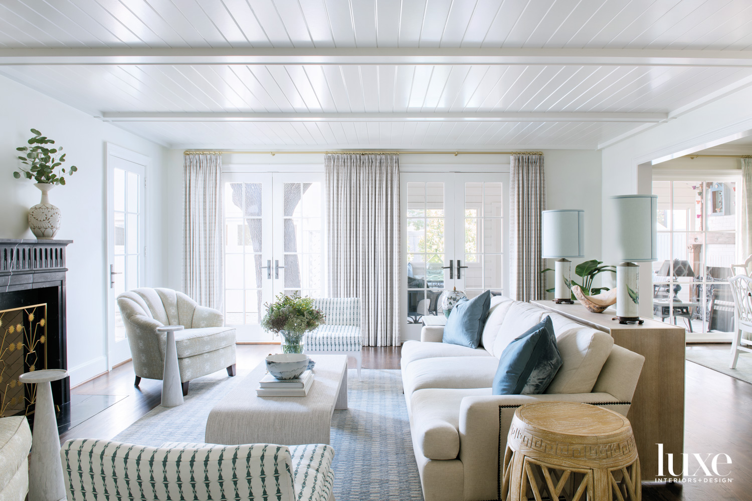 White den with neutral furnishings