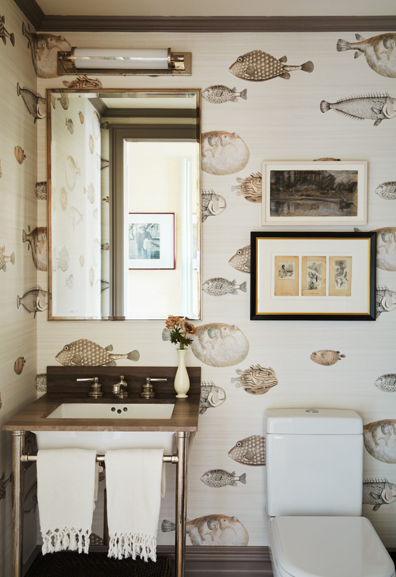 Gideon Mendelson Cole and Son wallpaper powder room