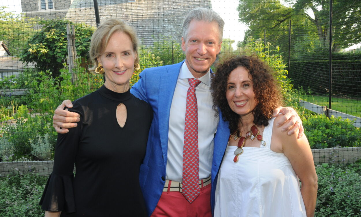 Kate Kelly Smith, Marshall Watson, and Pamela Jaccarino at East Hampton Antiques & Design Show