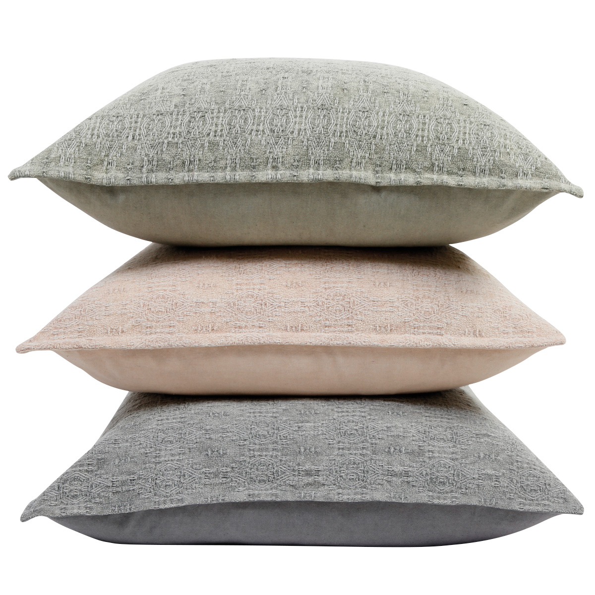 gray and taupe pillows stacked