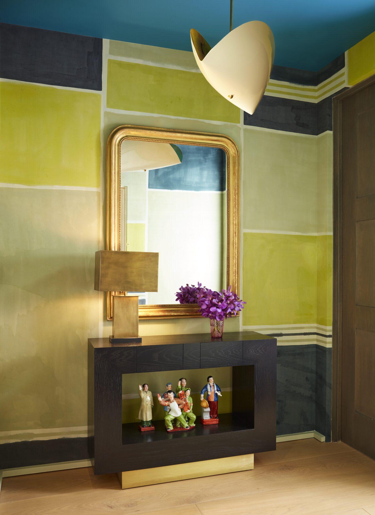 Oliver Furth Porter Teleo wallpaper powder room