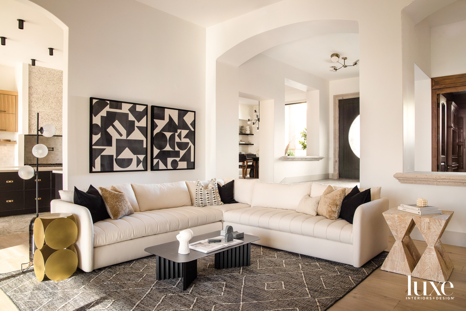 A living room with an...