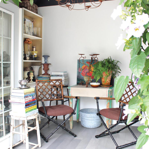 Pull Inspo From This Charming Backyard Nook With Garden Views