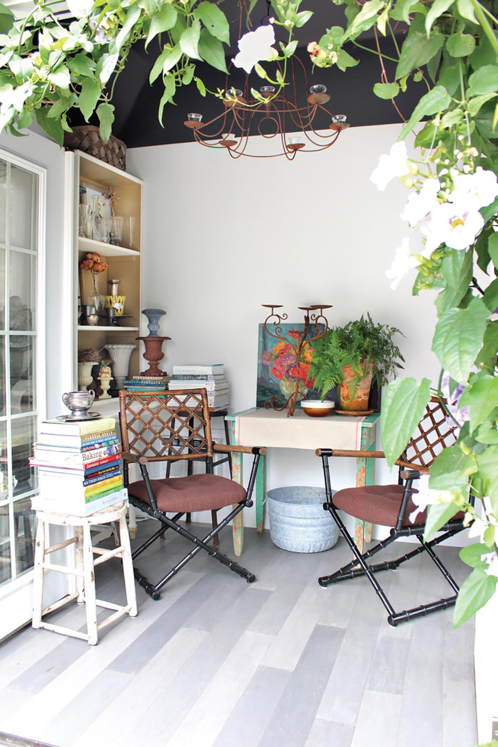 artful shed with contemporary chairs and accessories