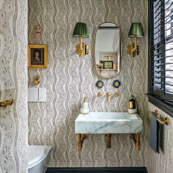 The Latest Bathroom Trends All Incorporate Brass + Gold