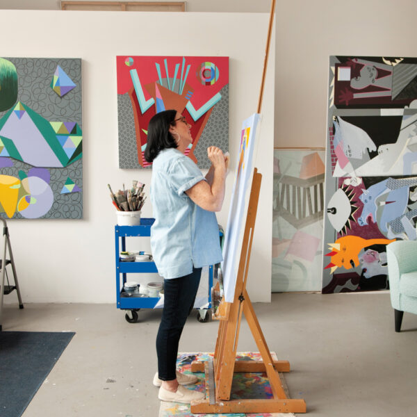 Using Hard Lines And Soft Shapes, This Chicago Artist Finds Balance
