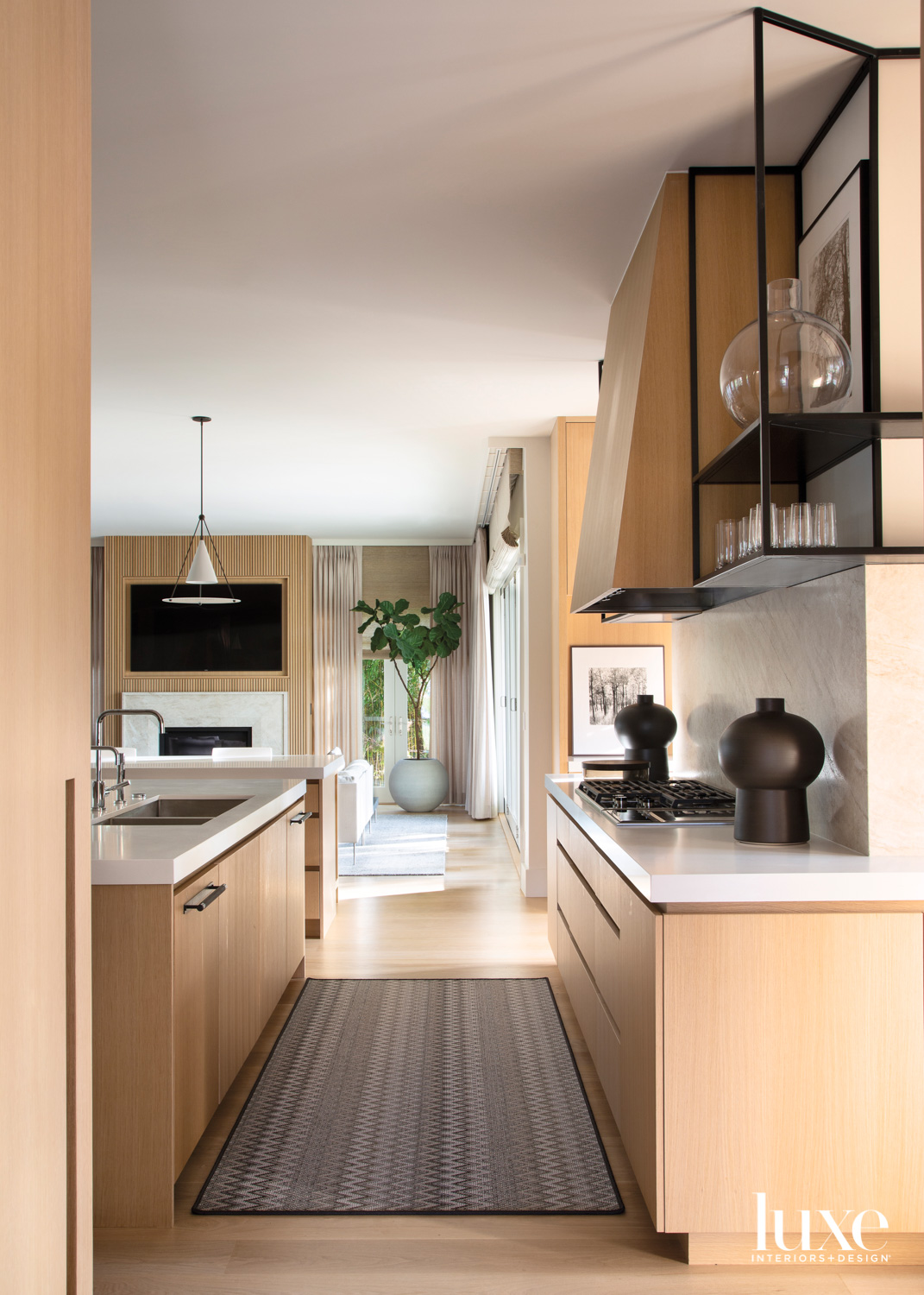 A kitchen is outfitted with...