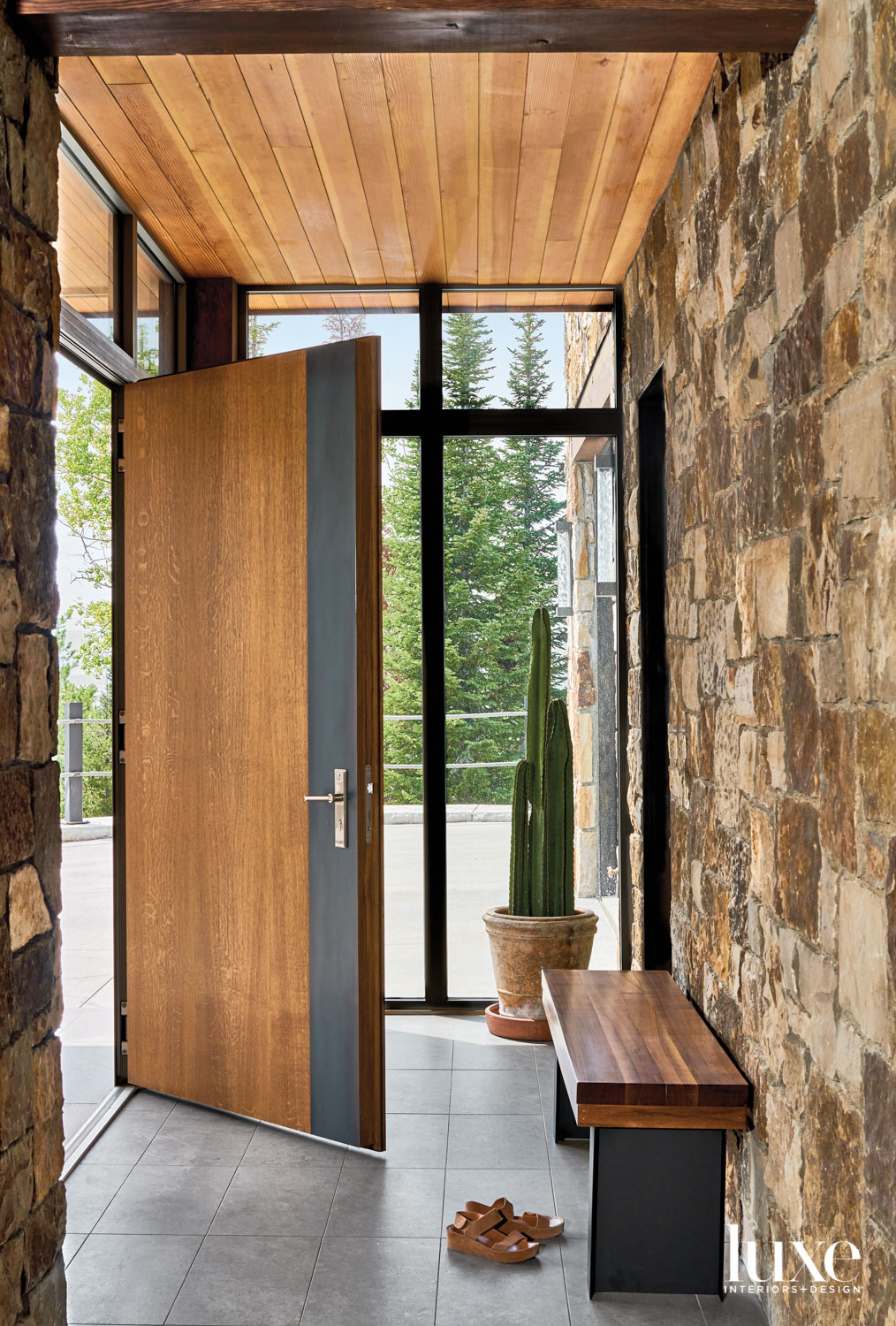 The entryway features a large...