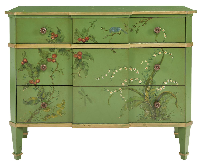 green garden drawer chest