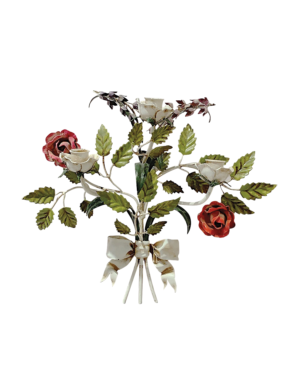 floral candle sconce