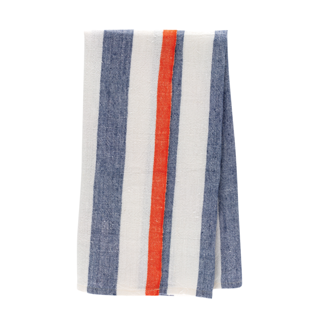 red white blue striped hand towel