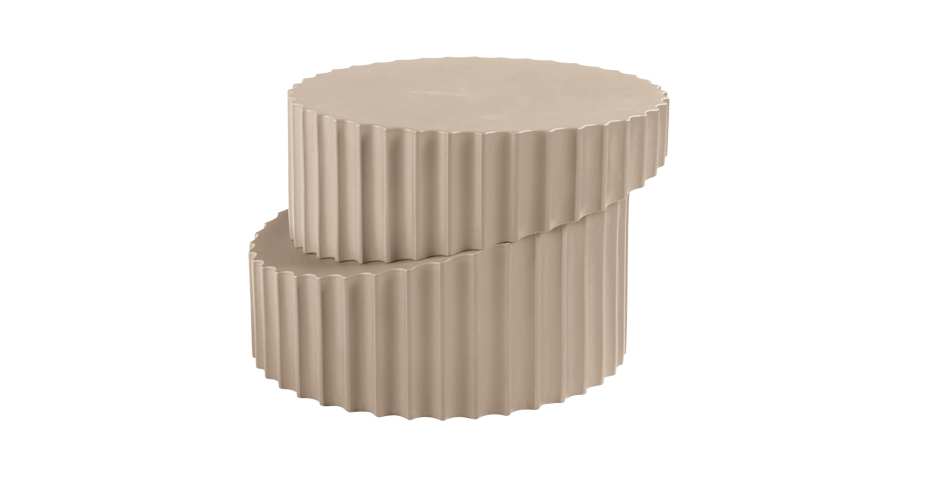 beige stacked table