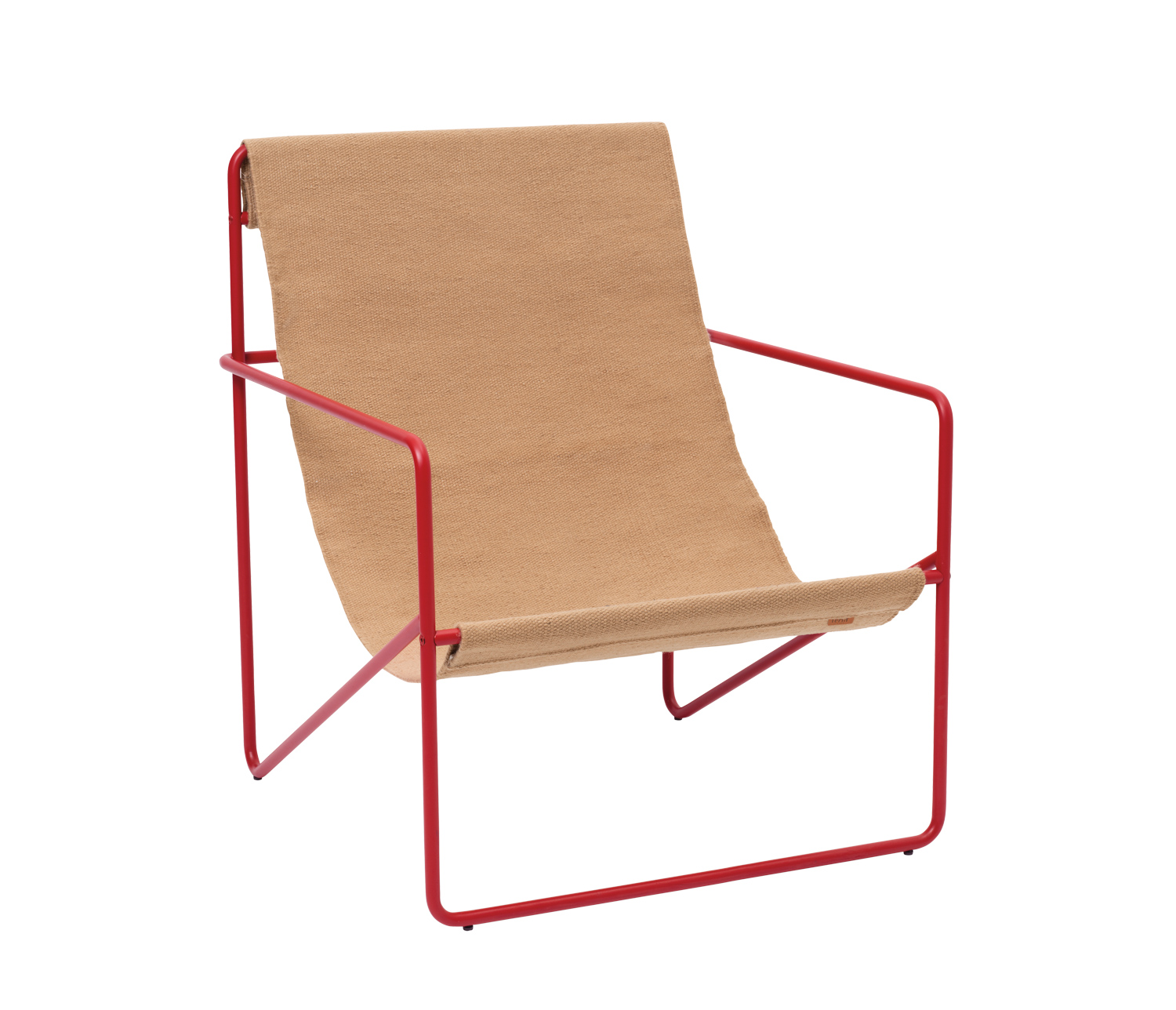 red tan lounge chair