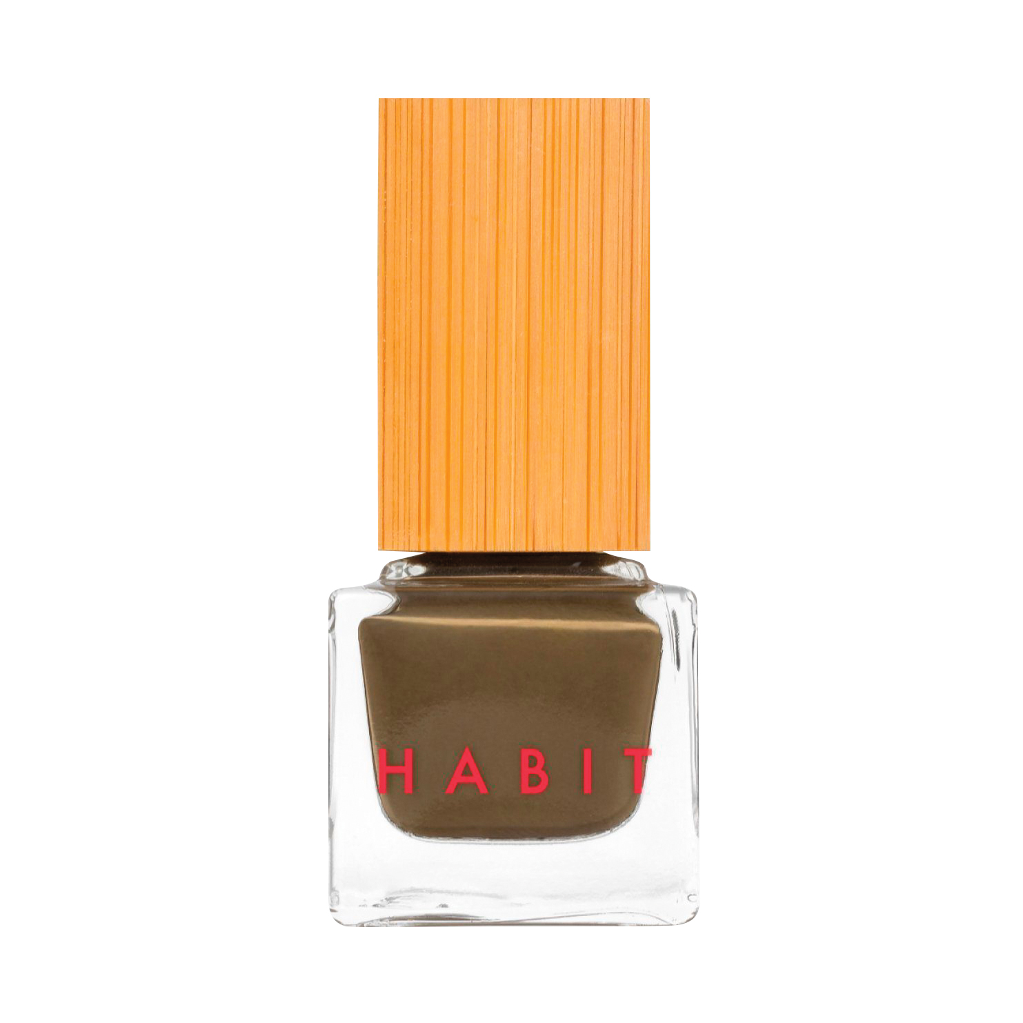 brown nailpolish in gold top bottle