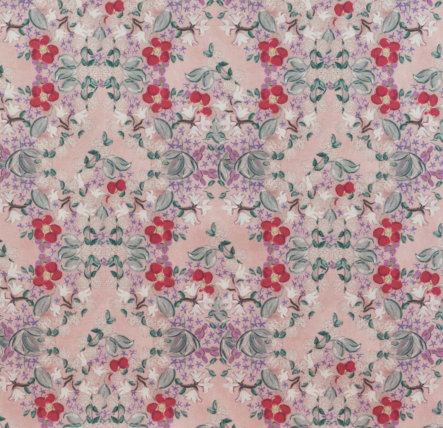 pink floral pattern fabric