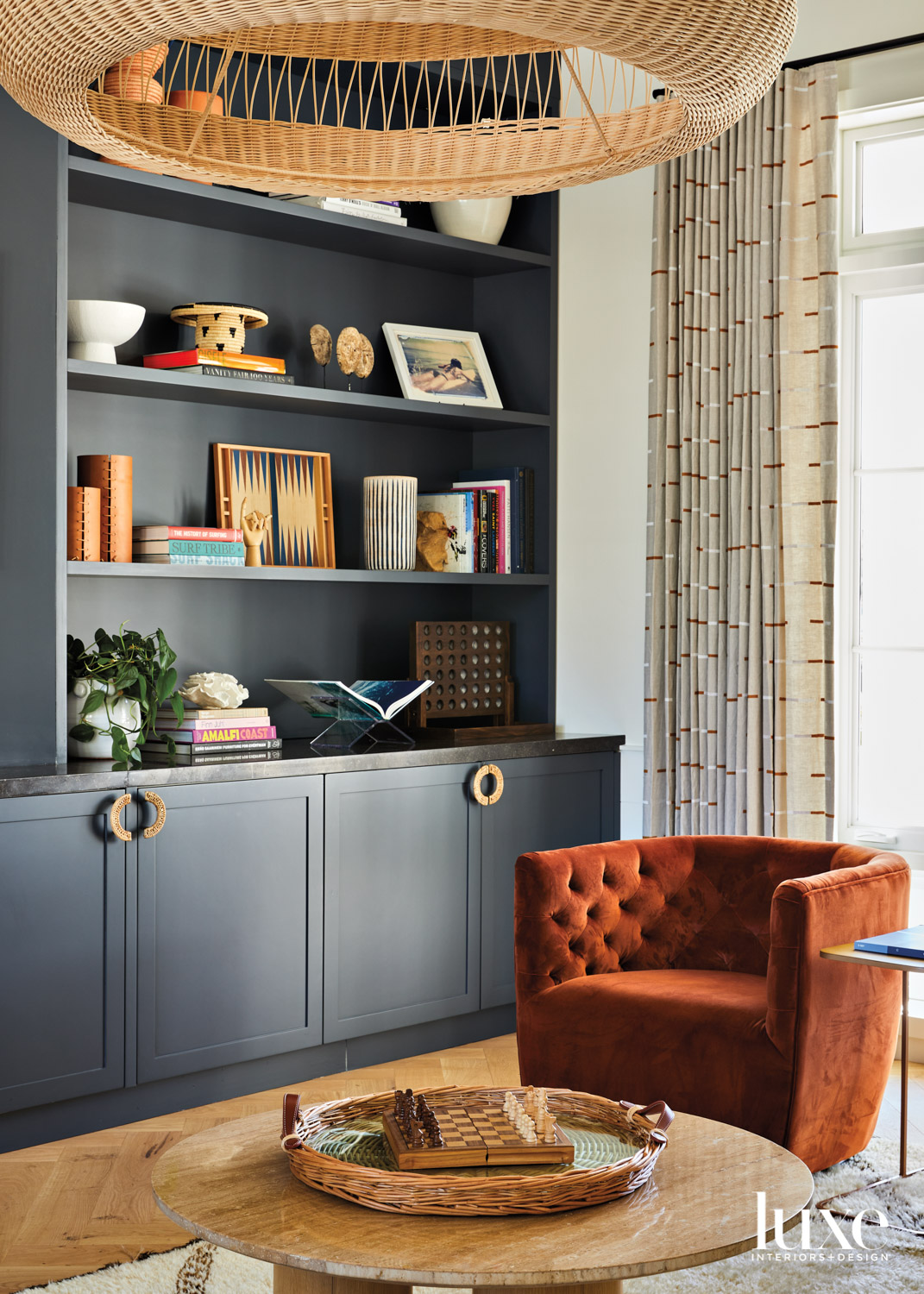 bar room with navy built-in,...