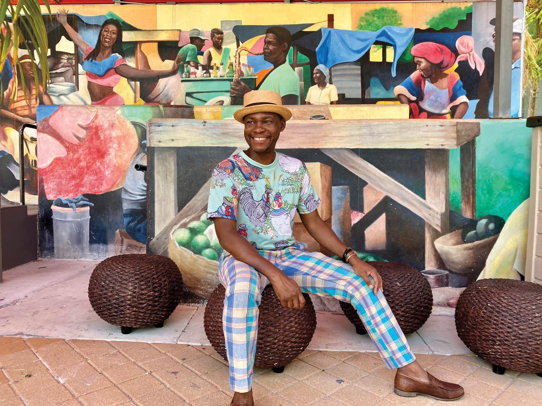 Miami Designer Kenzie Leon Perry posing