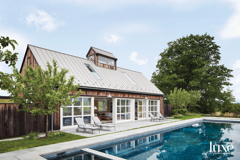 wood pool house