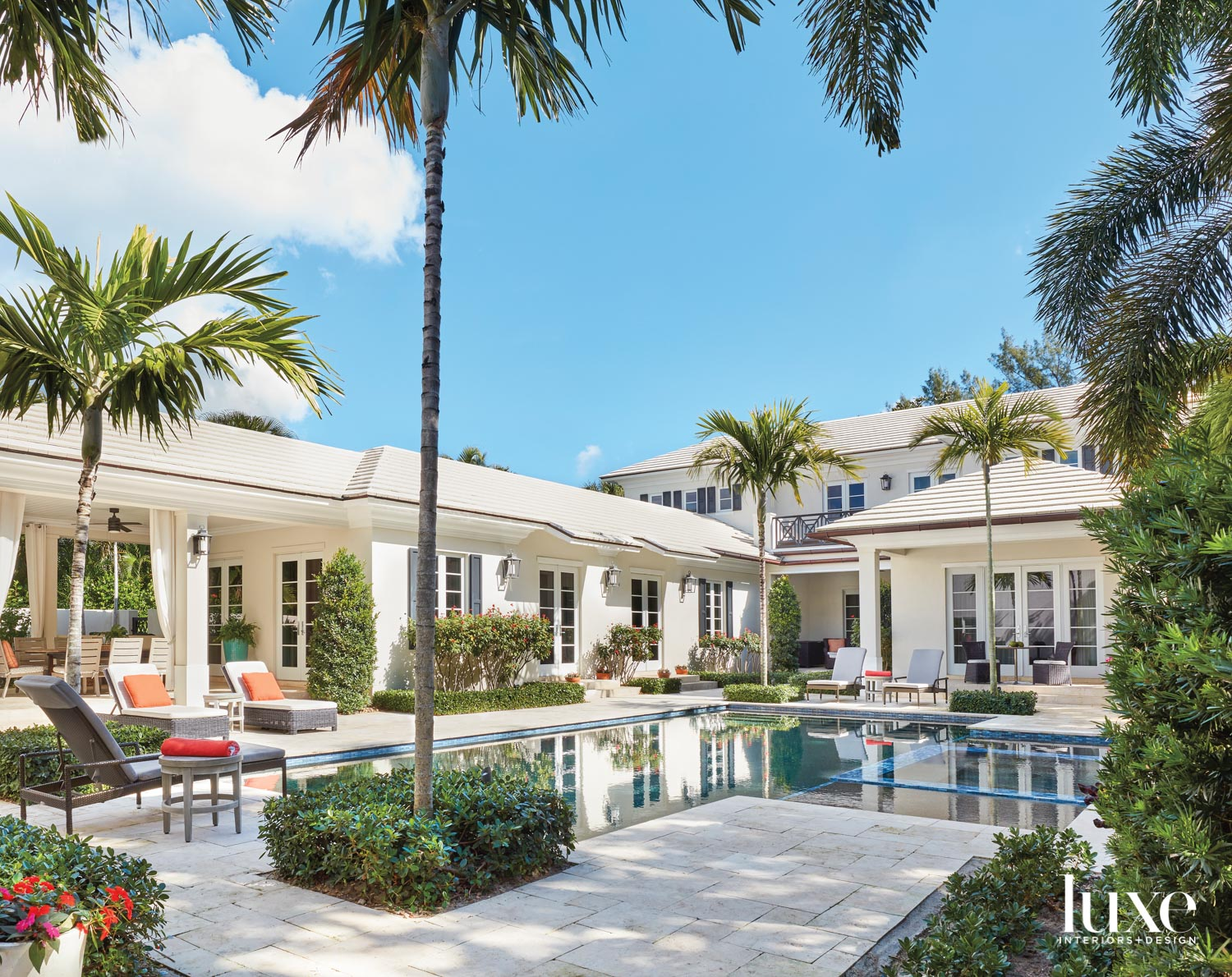 pool area with expansive loggia...