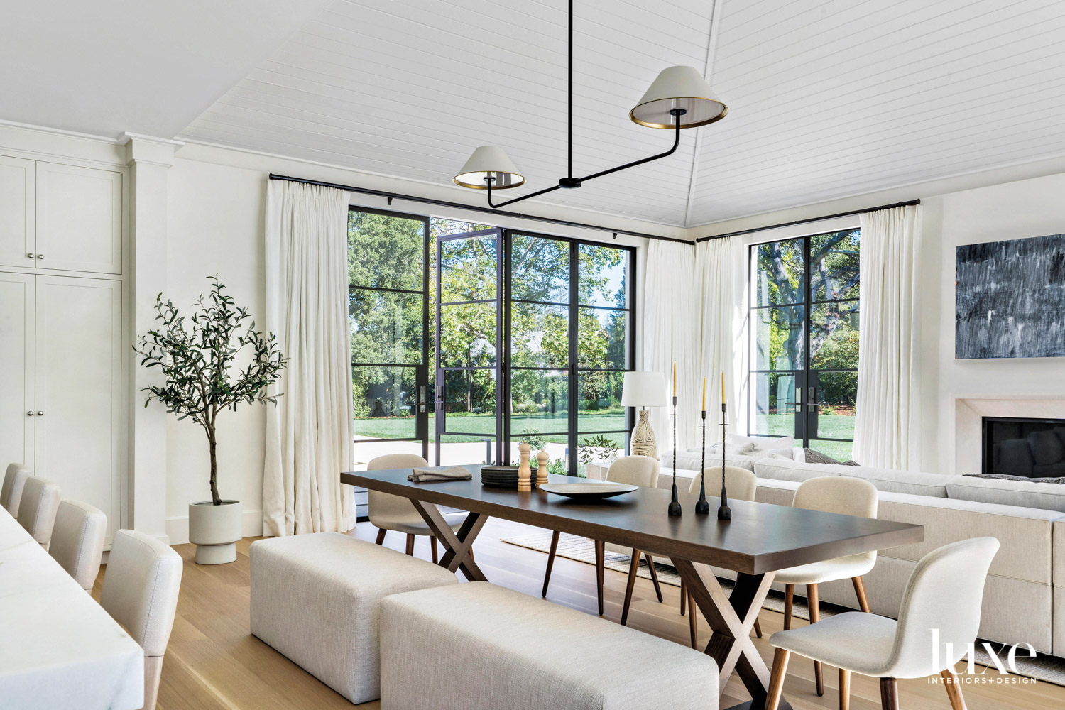 dining area with casual bench...