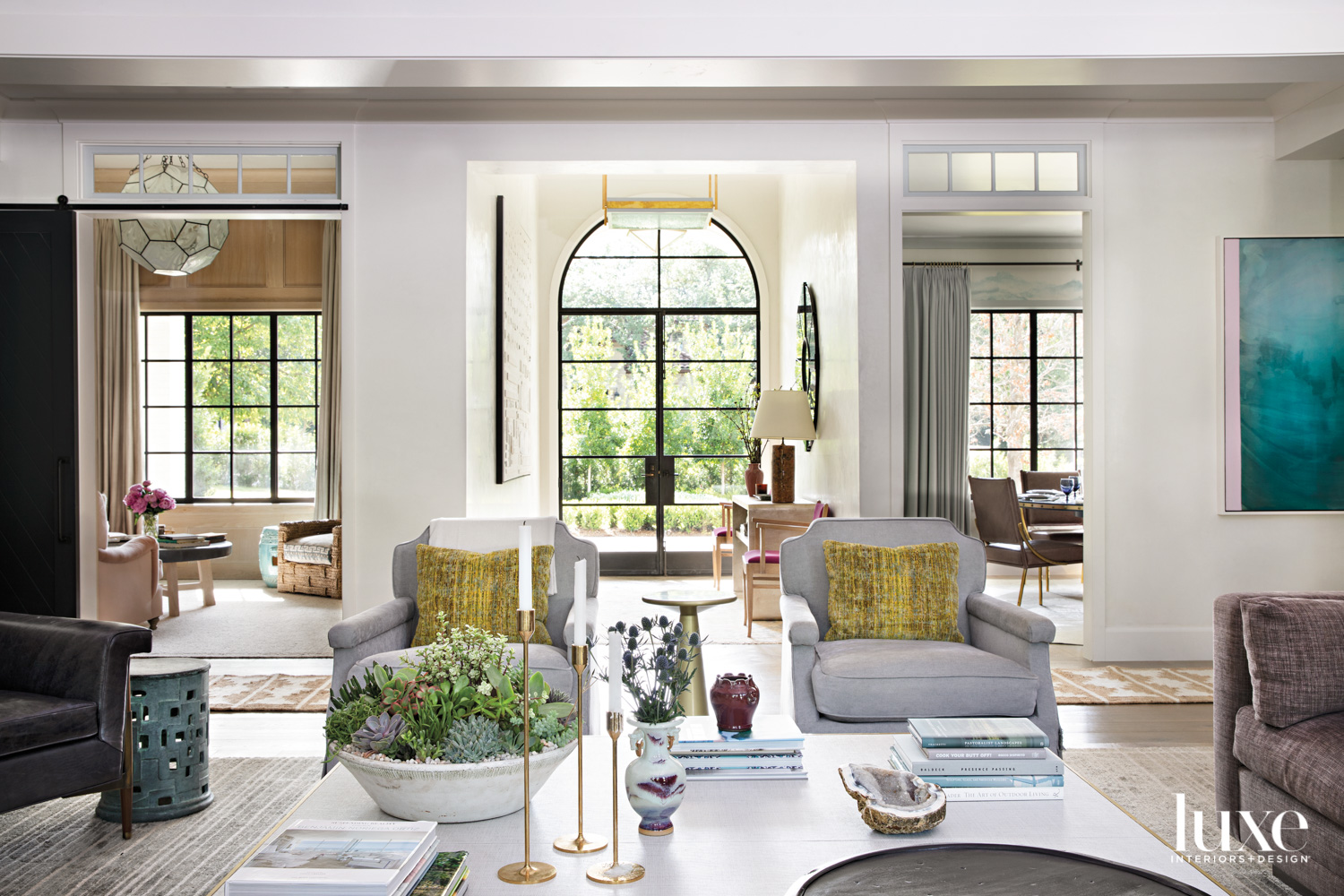 living room with matching chairs...