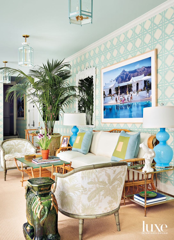 solarium with palm beach style