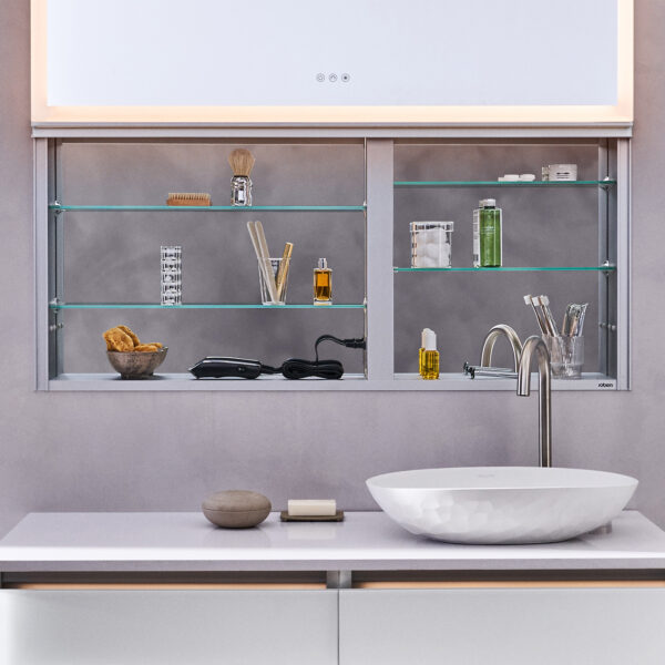 Unique Vertically Opening Cabinet Design