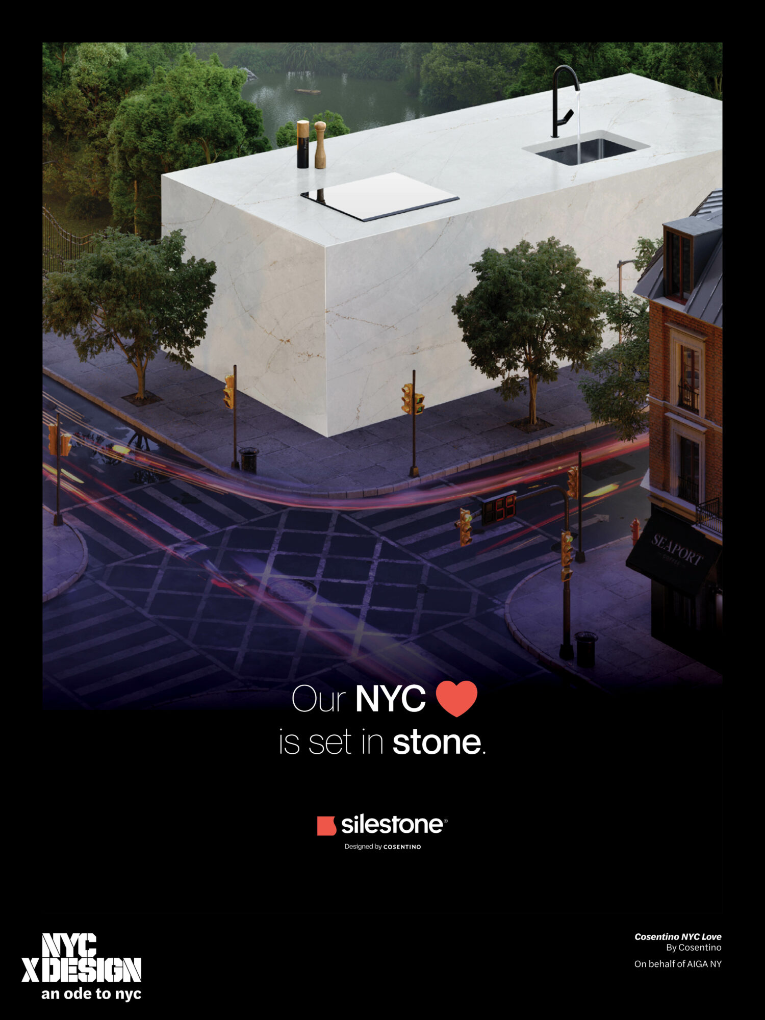 ode to nyc cosentino design poster