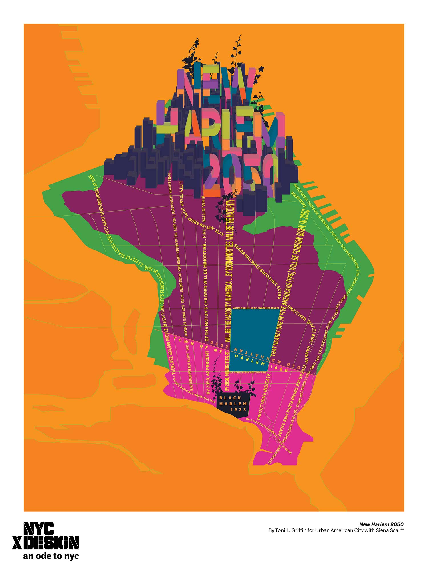 ode to nyc new harlem poster