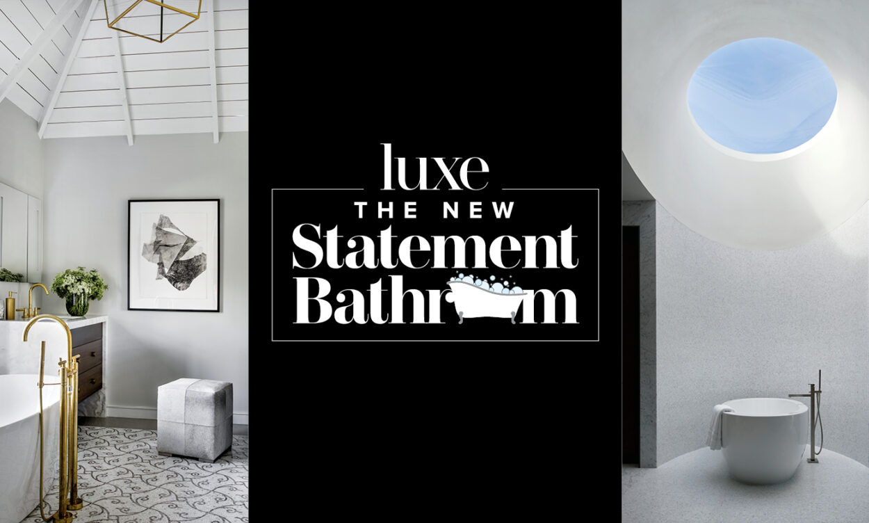 new statement bathroom topper